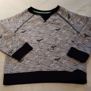 Boys Waves & Whale Tails Crew Neck Sweatshirt